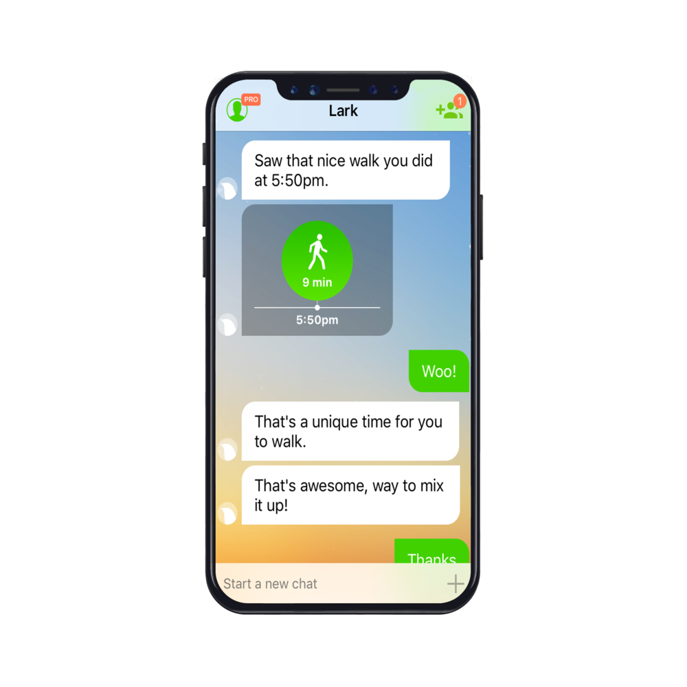 Dieting with a health chat app provides you support.