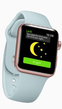 Lark Apple Watch sleep