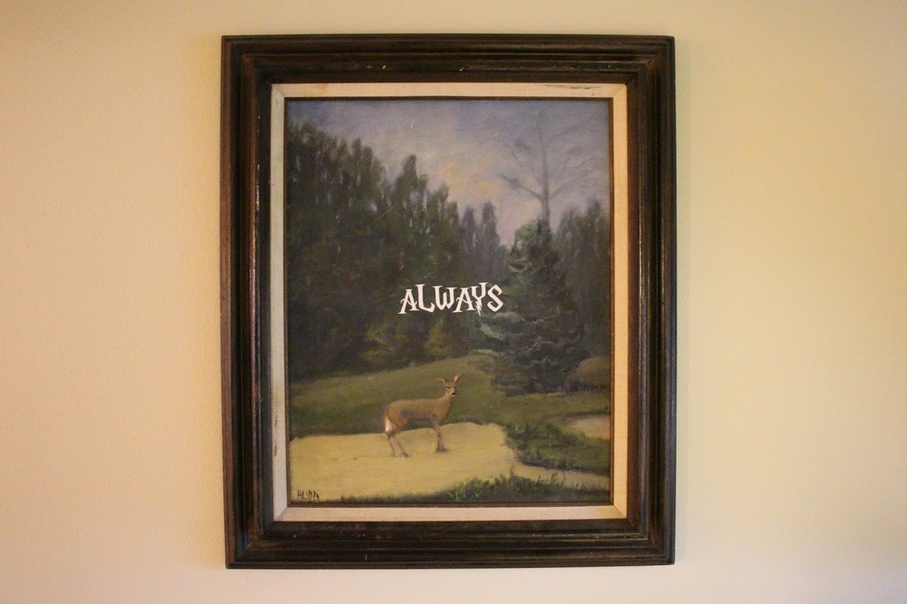 ALWAYS   acrylic on found photograph   2014    sold