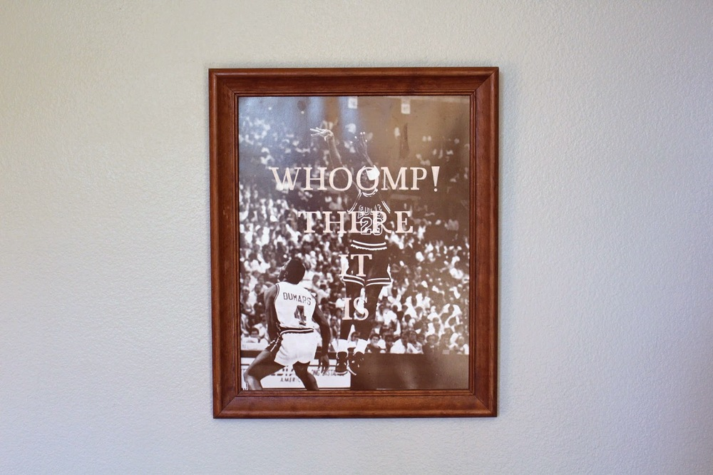 Whoomp! There It Is    acrylic on found painting   2014