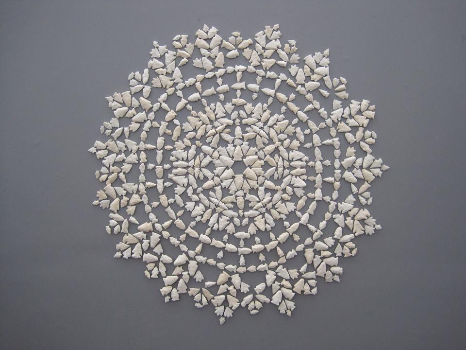 Arrowhead Doilie  cast plastic  2010