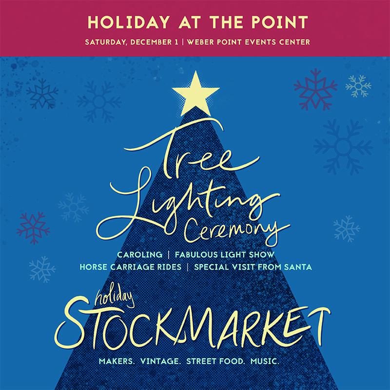 Stockmarket Tree Lighting Holiday Market