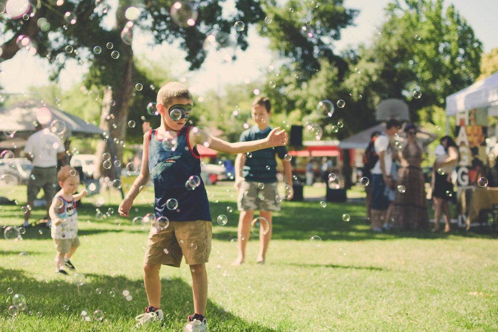 Bubbles Dancing Kid Park Festival Summer Fair
