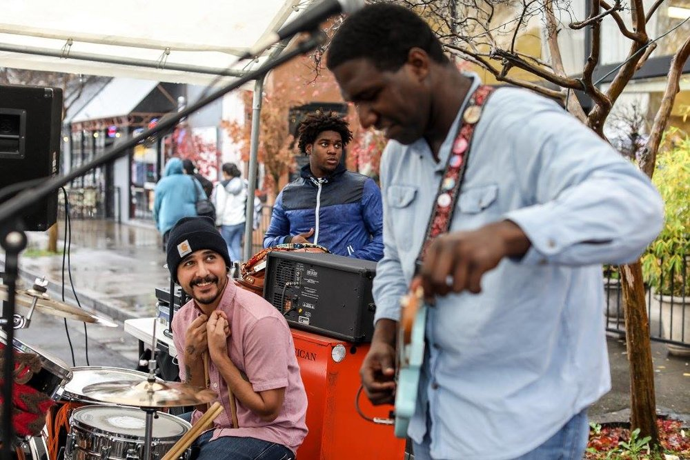 Live Band Guitarist Drummer Street Fair Music