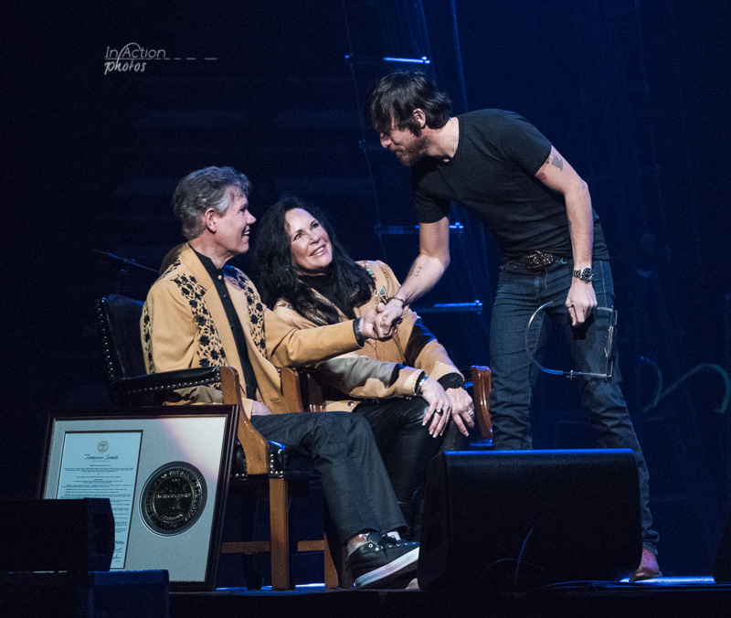 Chris Janson, Randy Travis & Mary Travis