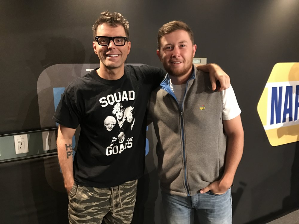 Pictured (left to right): Bobby Bones and Scotty McCreery  Photo Credit:Scott Stem