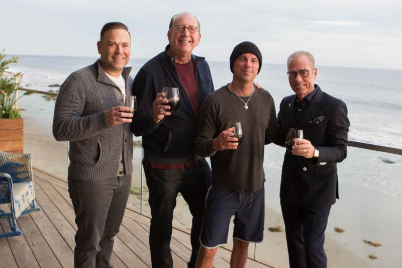 Photo ID (L to R): Clint Higham (President, Morris Higham Management); John Esposito (Chairman & CEO, Warner Music Nashville); Kenny Chesney; Jess Rosen (Attorney, Greenberg Traurig)  Photo credit: Allister Ann