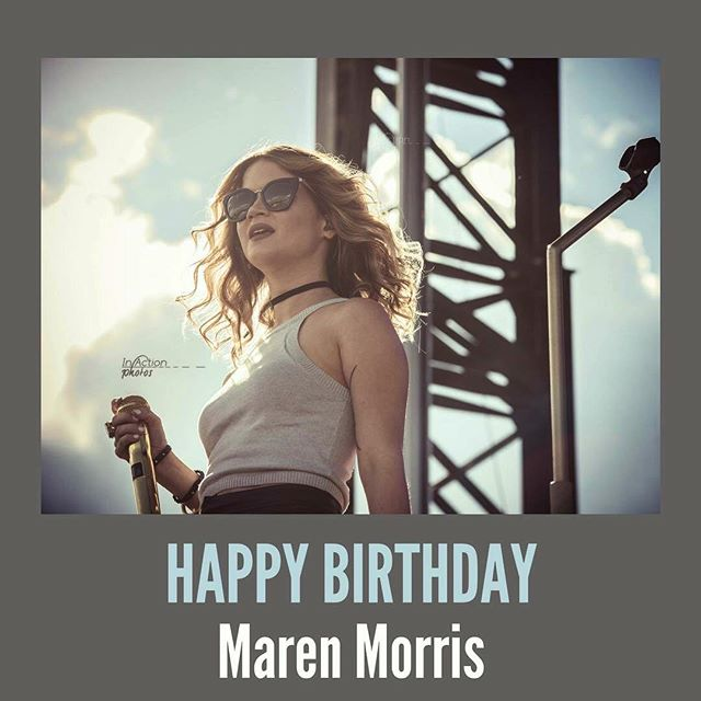 Happy 28th Birthday @marenmorris 🎁 . 📸: @in.action.photos