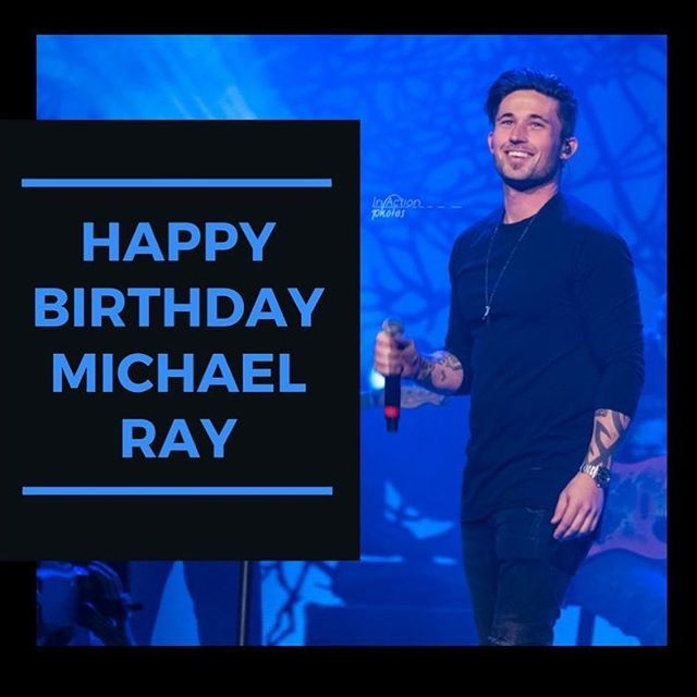 Wishing @michaelraymusic a Happy Birthday! 🎂Join us in sending him some ❤️ below! . 📸: @in.action.photos