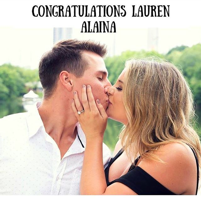 So happy for @laurenalaina who announced her engagement today to longtime boyfriend Alex Hopkins 💒. 📸: @laurenalaina!