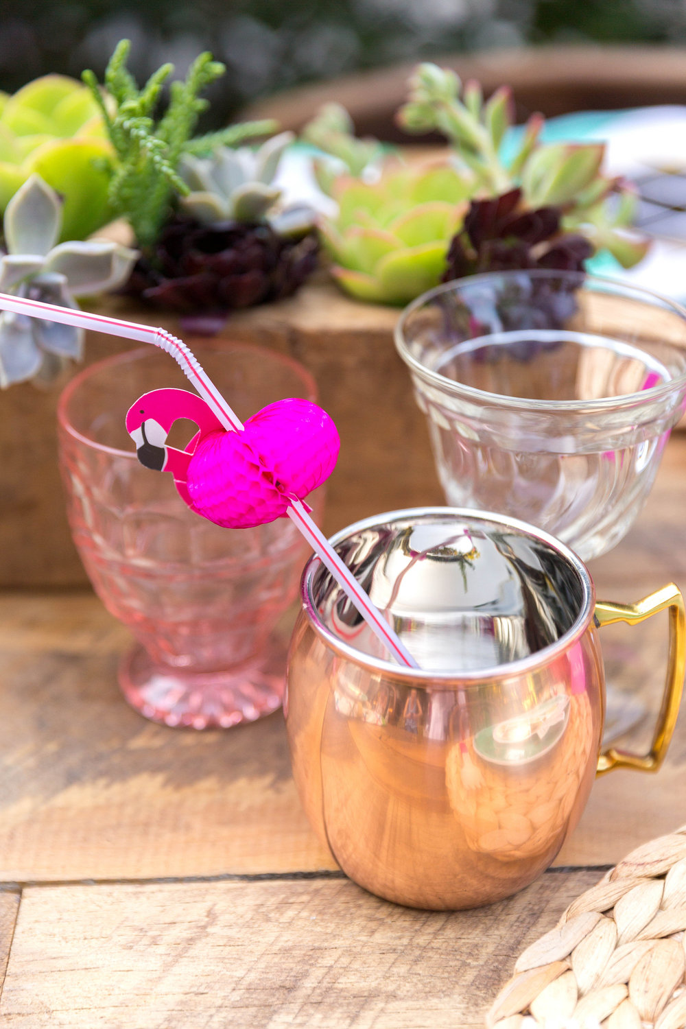 flamingo dinner party moscow mule