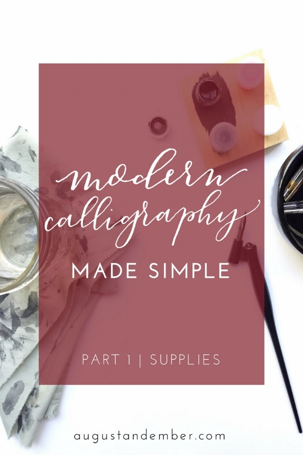 modern calligraphy made simple