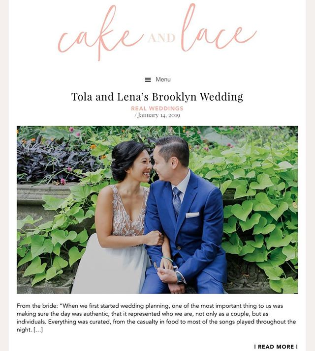 "I shared a photo of this bride's dress as we were doing the fittings back in 2017, then today I got a friendly email notifying me that it was featured on the @cakeandlace_ blog! I wanted to share them earlier but I guess ""good things come to those who wait"" 🤗 - just like finding love, building a family, success in career, etc... Here's cheers 🥂 to 2019!! Congrats again Lena!! Hope everything is going well! 💖Photographer: @lauradilibertophoto 