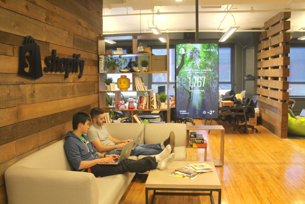 Shopify's Montreal office—where no one has desks! (via Tower Trip)