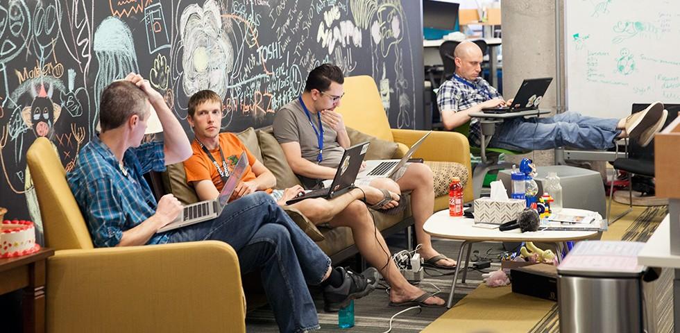 From Zappos' Las Vegas office (via themuse.com)