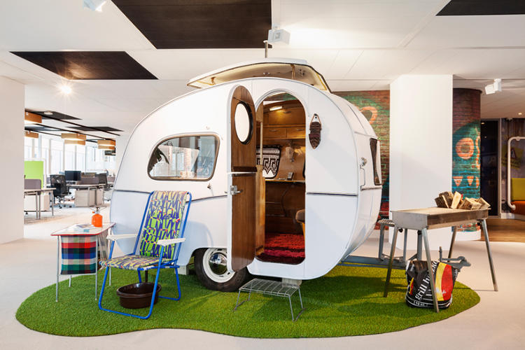 A quirky meeting space at Google Amsterdam