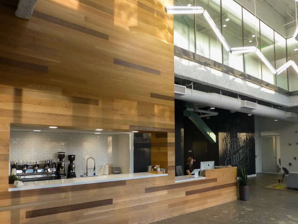 The coffee bar at Evernote's Redwood HQ