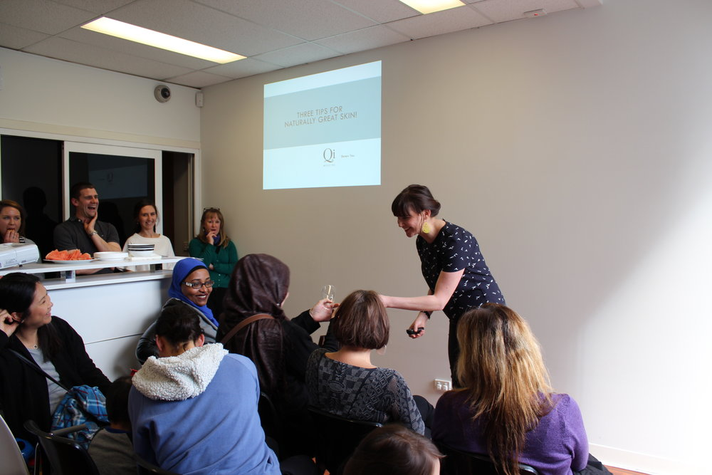 Dr Sheena (Chinese Medicine) Vaughan's presentation offering tips for naturally beautiful skin