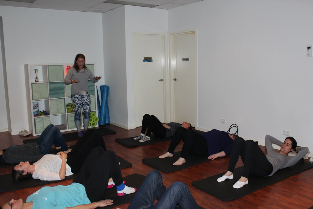 Complimentary Pilates session conducted by Pilates Instructor Jessica MacPhie