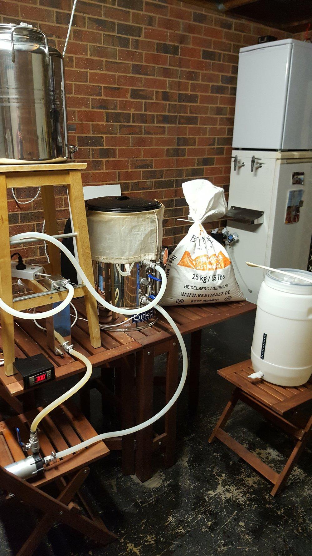 Pre-Brewing Setup