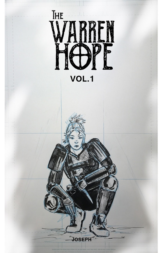 The above is a mock up for the cover to  The Warren Hope  Vol.1