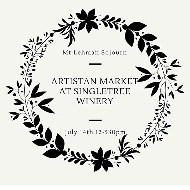 Come check out the artisan market today @singletreewine and enjoy a glass of wine 🍷