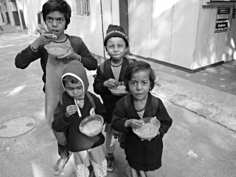 Schoolchildren at Udbhas, Kolkata, India