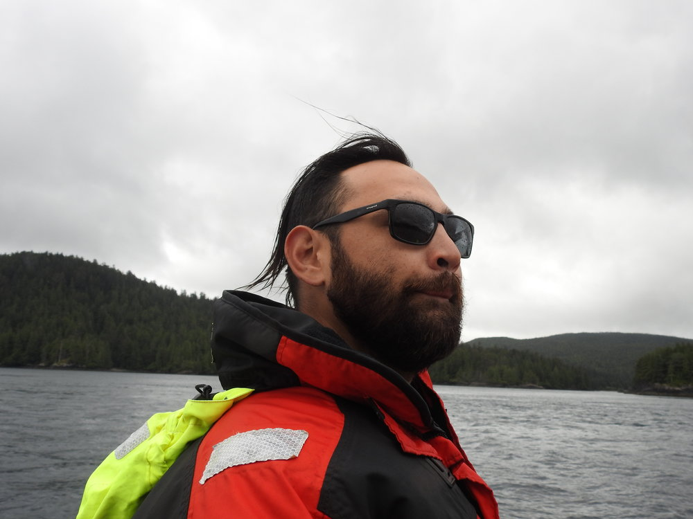 SASCHA DEAN JONES    -  HAIDA WAVE    CAPTAIN & CULTURAL GUIDE
