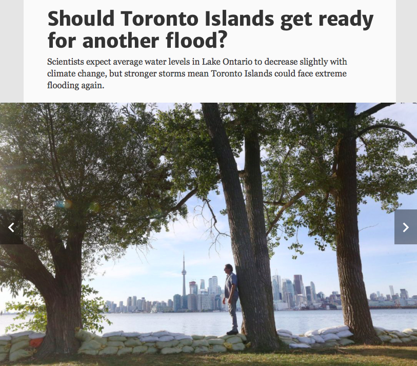 Should Toronto Islands get ready for another flood? Photo by Steve Russell/Toronto Star