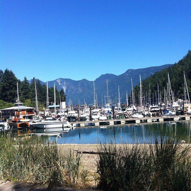 Bowen Island Marina / Union Steamship Marine Resort in Snug Cove, Bowen Island, BC.