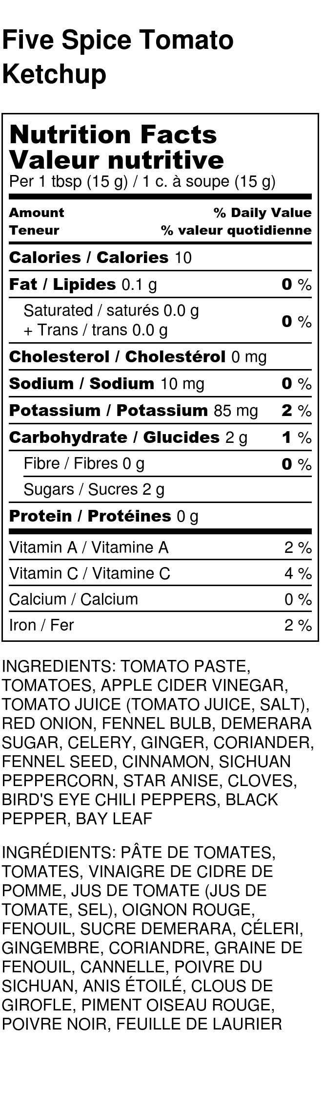 Five Spice Tomato Ketchup - Nutrition Label.jpg