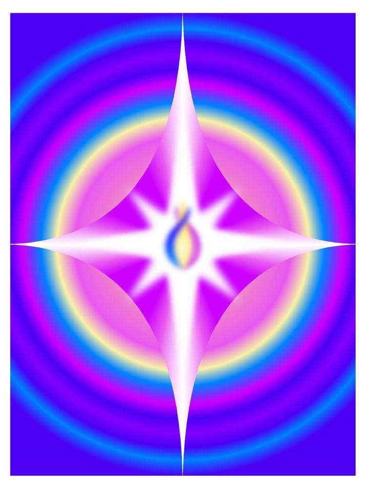 This image is of a Love Star and radiates Unconditional Love.