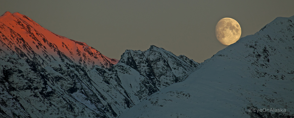 Kenai Mountains moon rise
