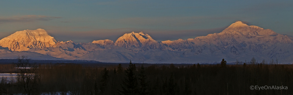 Mt. Foraker, Mt. Hunter & Denali.