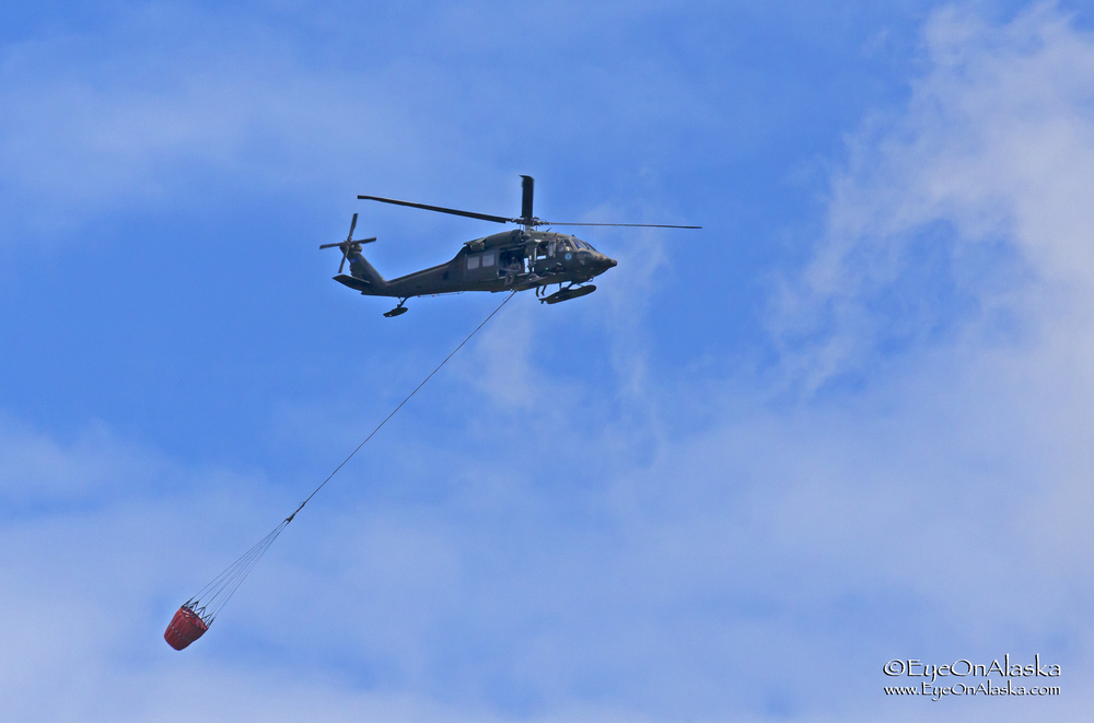 National Guard H60 Blackhawks helping out.