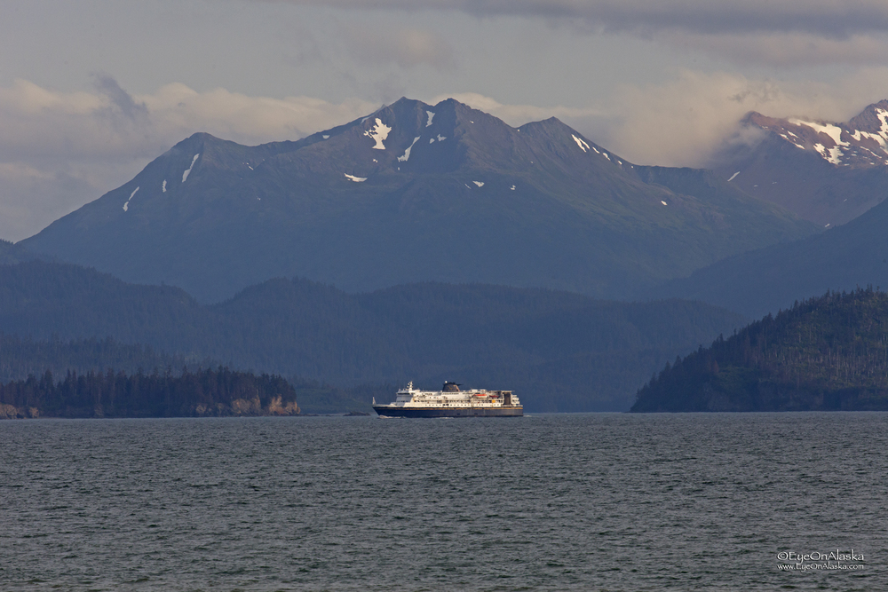 Alaska State ferry coming in from Kodiak.