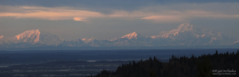 The Alaska Range at sunset.