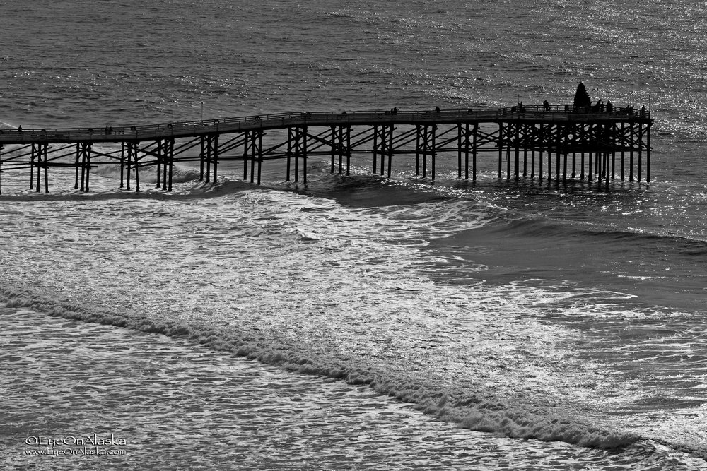Pacific Beach pier from our rental condo.