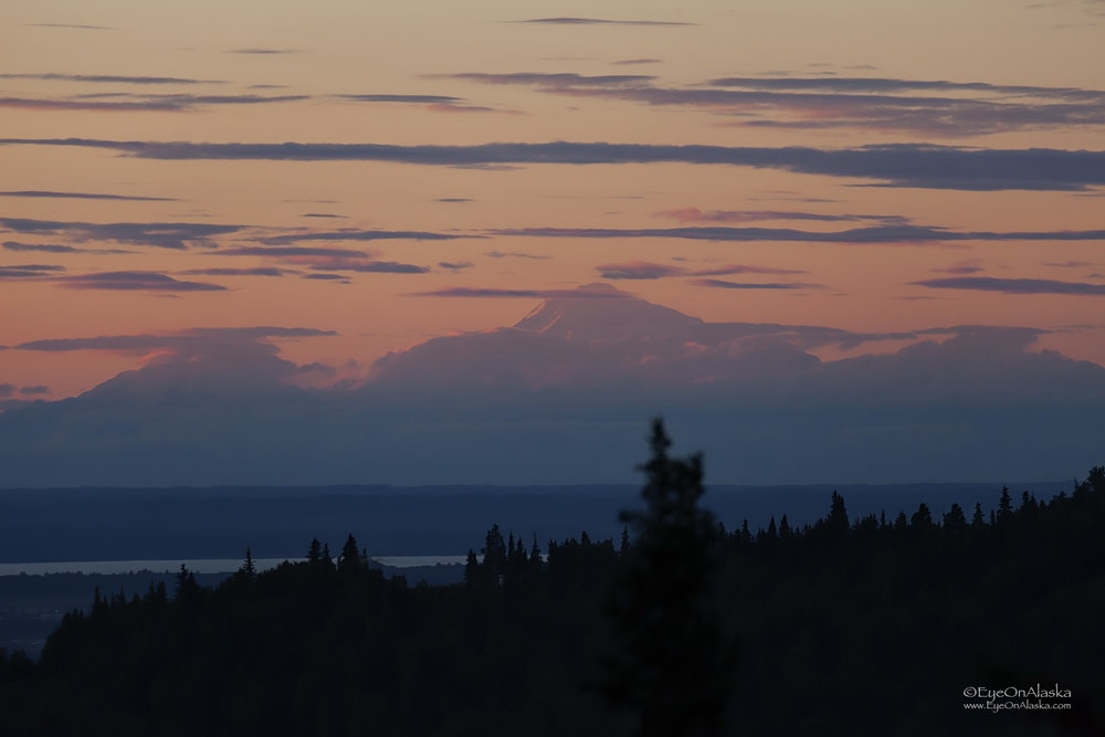 Denali at sunset.