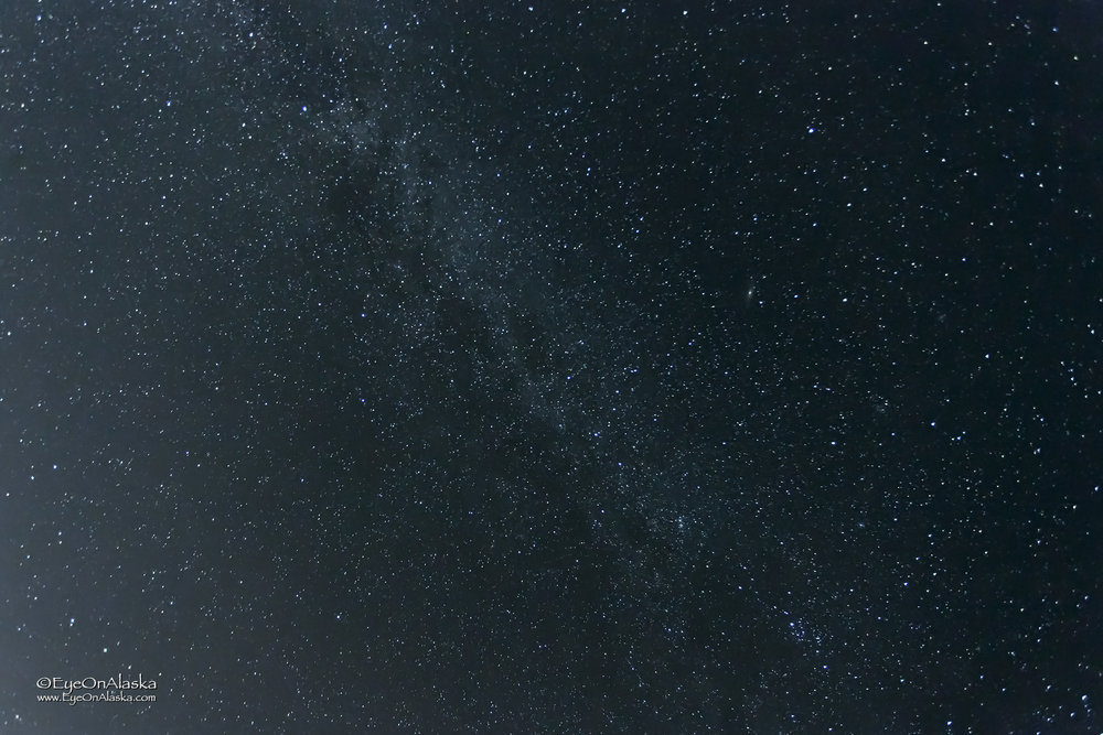Milky Way directly overhead.