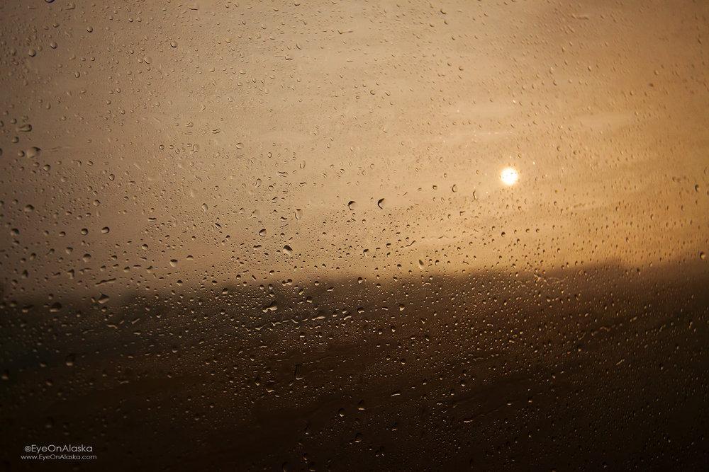 Sunset in rainy Wisconsin.