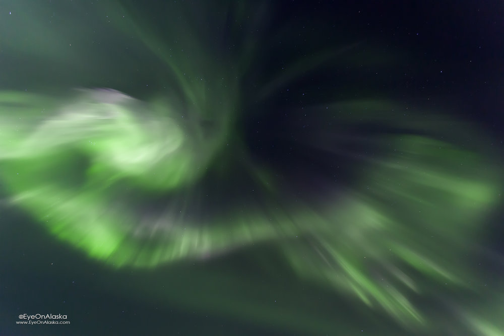 Ka-Boom!!!  This is behind (South) of the house, so you know the Aurora is exceptionally strong when it's here.