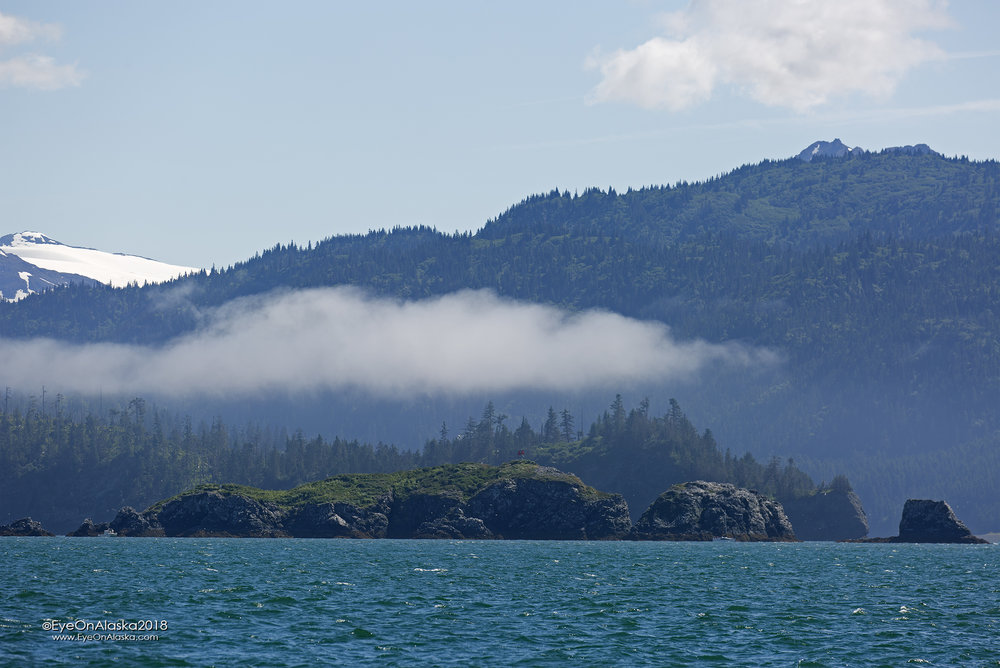 Gull Rock on Kachemak Bay.