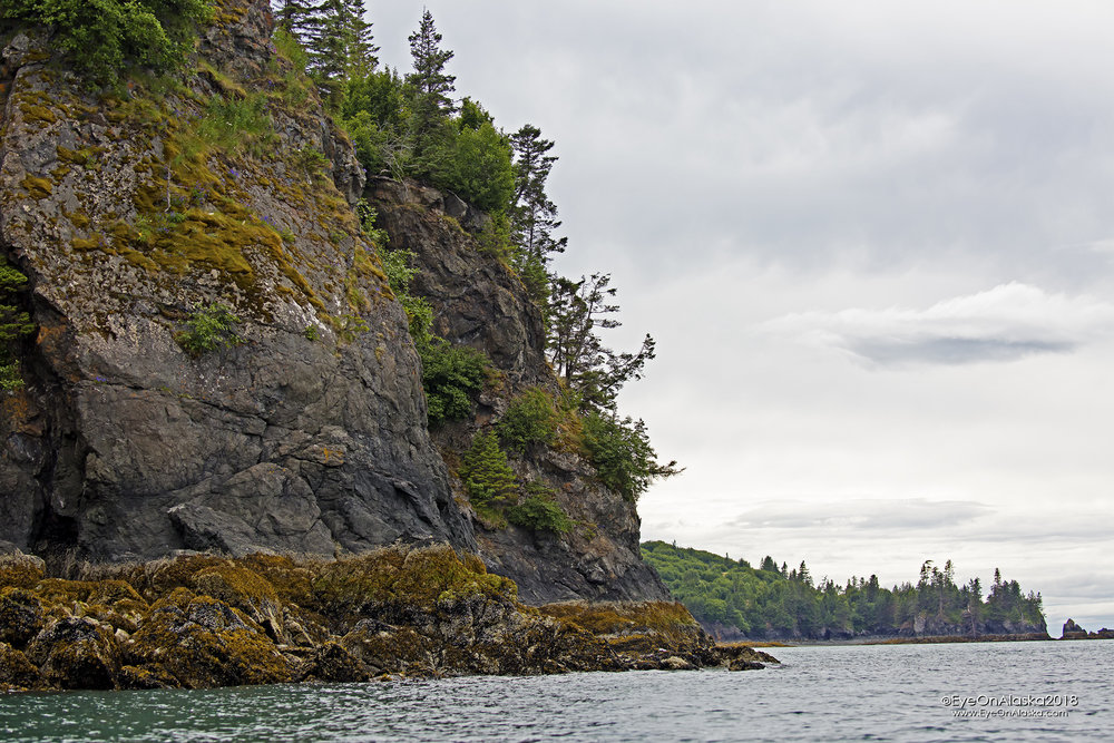 One of the Ismailof Island bluffs.