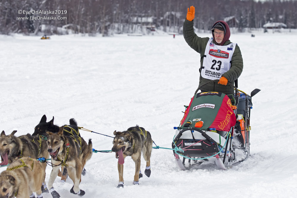 Our friend, Jeff King, 4 time Iditarod Champion and Yukon Quest champion.