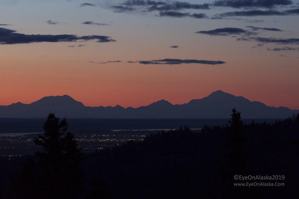and looking north towards the Alaska Range and Denali.