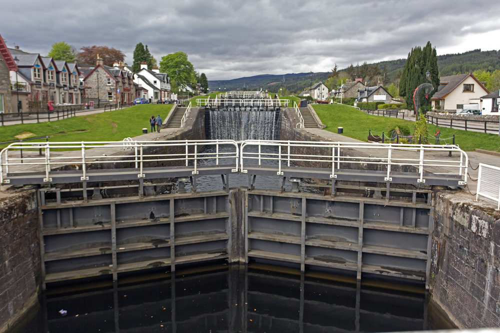 We've made it Fort Augustus at the end of Loch Ness for the night.  Tomorrow morning we'll make our way up the flight of 5 locks.