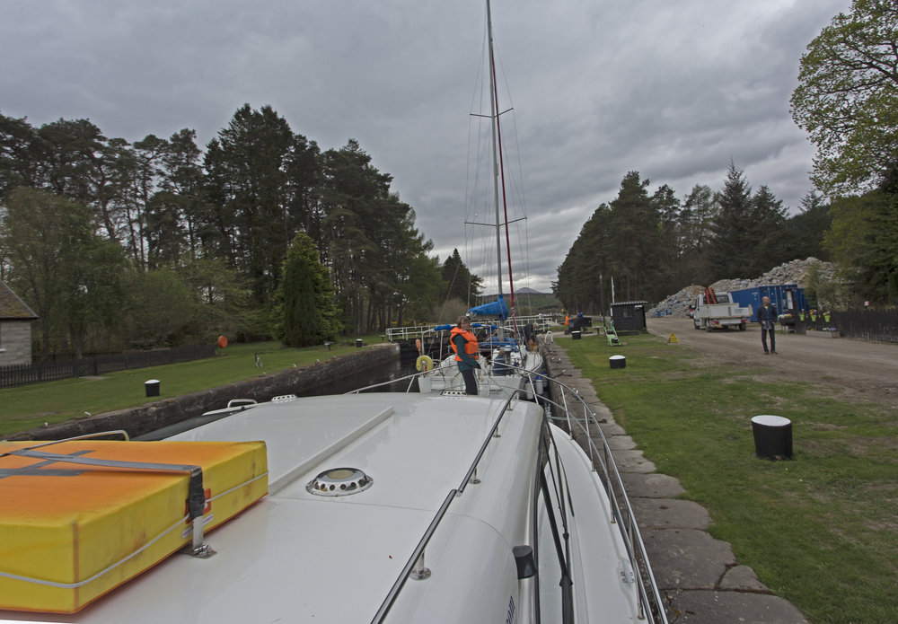 We've made it through the Fort Augustus locks and are now at the Kytra Lock.