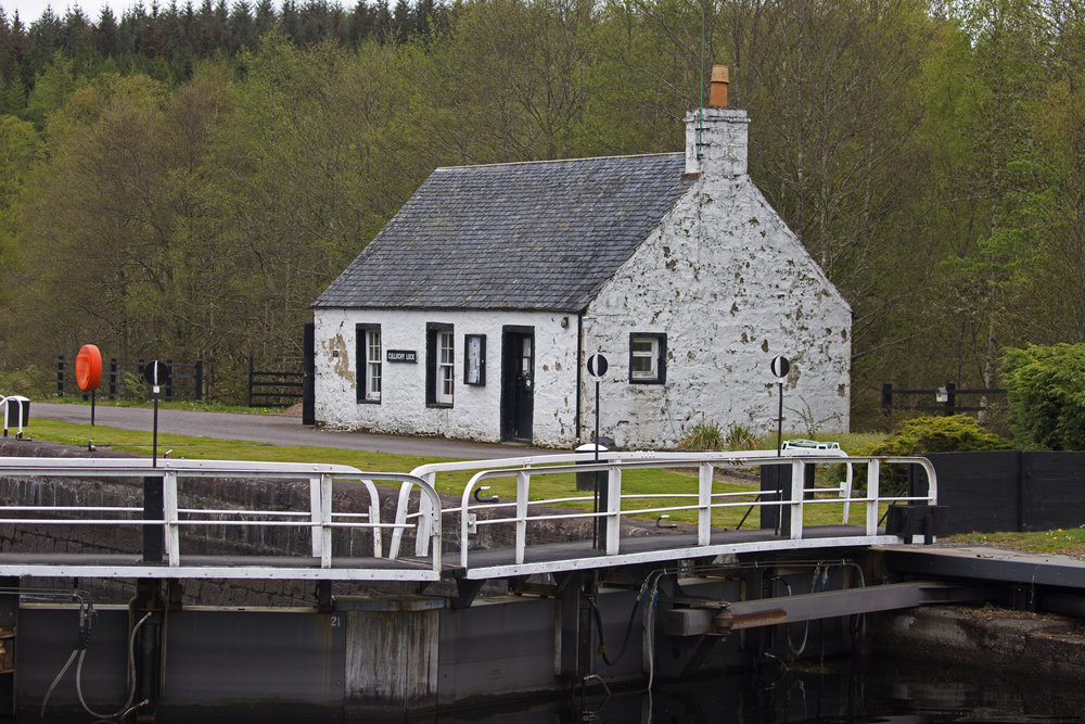 We rode our bikes down to the Cullochy Lock.