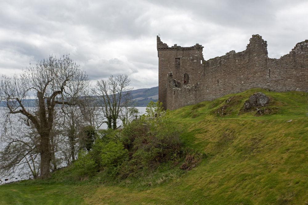Urqhart Castle was fascinating.  We got there in time to avoid most of the big crowds that come in on day trips off the big tour boats.